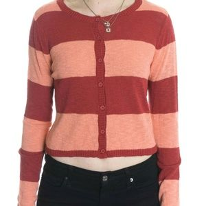 NWT Pieces by Kensie Striped Cardigan Sweater